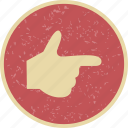 direction, finger, gesture icon