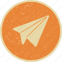 airplane, paper plane, plane icon