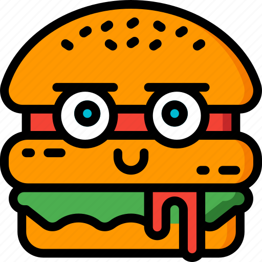burger, cheese burger, fast food, food, happy, junk food, smiley icon