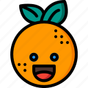 citrus, fruit, happy, orange, smiley, summer icon