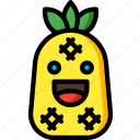 fruit, happy, pineapple, smiley, summer icon