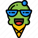 cool, cream, happy, ice, lolly, shades, sunglasses icon