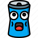 beer, can, drink, drunk, fizzy, shocked icon
