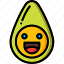 avacado, avocado, food, fruit, happy, healthy icon