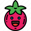 fruit, happy, salad, smiley, tomato icon