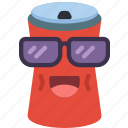 can, cool, drink, fizzy, happy, shades icon