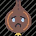 crying, food, onion, sad, vegetable icon