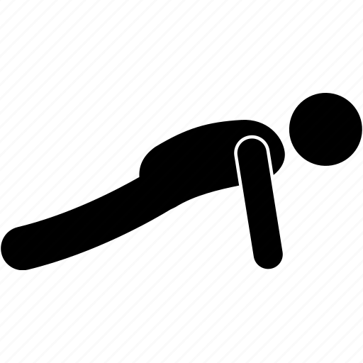 body, exercise, fitness, person, push ups, train, training icon