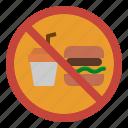 drinks, food, forbidden, no, prohibit icon