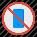 phone, no, prohibit, mobile, signaling icon