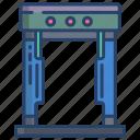 metal, detector, gate
