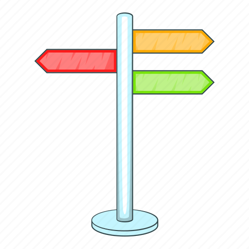 Arrow, blank, cartoon, direction, information, object, sign icon - Download on Iconfinder