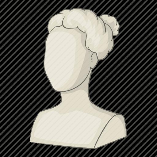 art, cartoon, head, object, sculpture, sign, statue icon