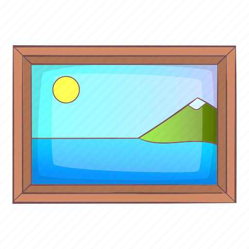 Artistic, cartoon, frame, museum, object, picture, sign icon - Download on Iconfinder