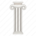 ancient, architecture, cartoon, column, museum, object, sign