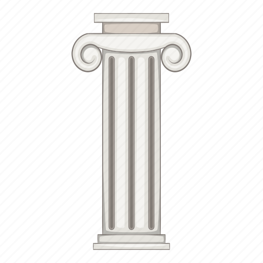 ancient, architecture, cartoon, column, museum, object, sign icon