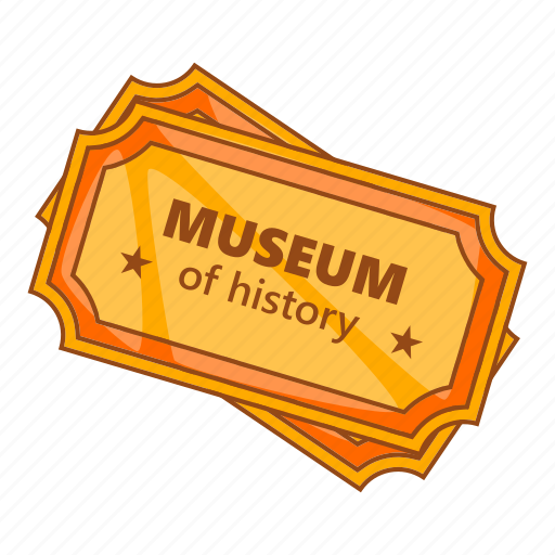 Cartoon, coupon, history, museum, sign, ticket, two icon - Download on Iconfinder