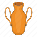 cartoon, ceramic, jug, object, pot, sign, vase icon