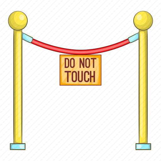 Barricade, cartoon, gallery, museum, object, rope, sign icon - Download on Iconfinder