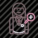 conservator, avatar, female, woman icon