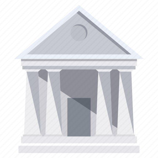 building, entertainment, museum, white icon