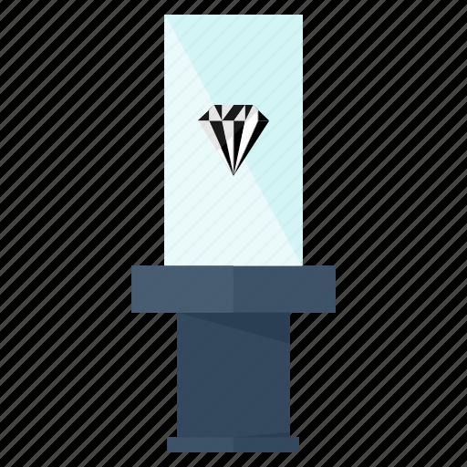 diamond, entertainment, museum icon