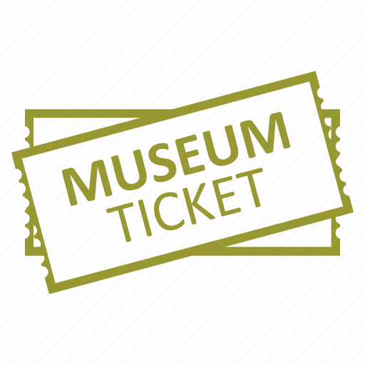 entertainment, museum, ticket icon