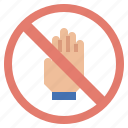 forbidden, gestures, hand, no, security, signaling, touch