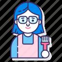 conservator, female, woman icon