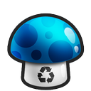 blue, mushroom icon