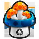 mushroom, trash icon