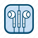 apple, earbuds, earphones, in-ear, iphone, sound icon