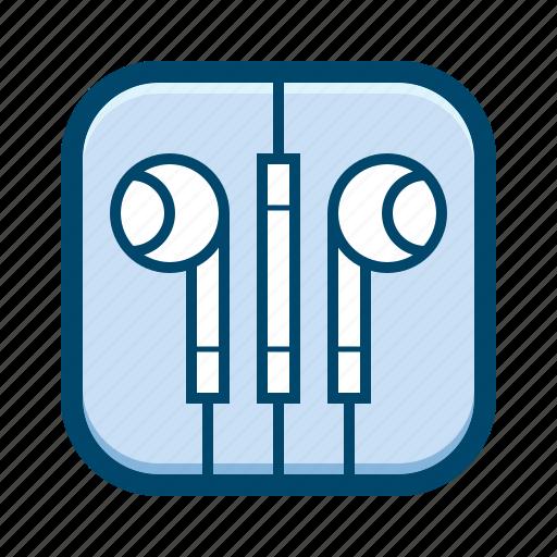 apple, earbuds, earphones, in-ear, iphone, sound icon