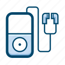 audio, earphones, media, mp3, music, player icon