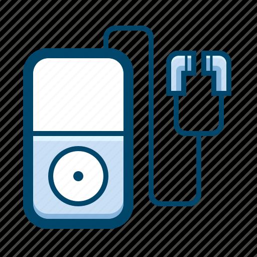 audio, earphones, media, mp3, music, player icon