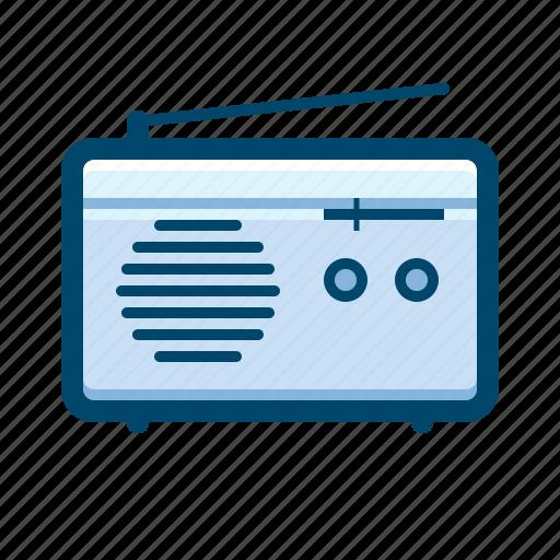 am, fm, music, radio, transistor icon