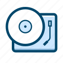 music player, phonograph, player, record, turntable, vinyl icon