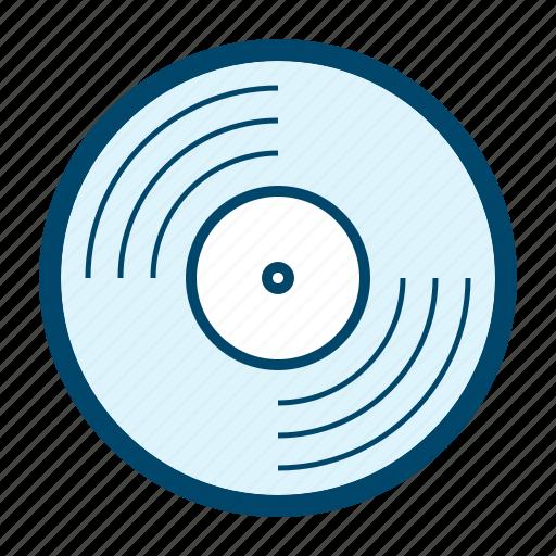 album, cd, lp, media, music, record, vinyl icon
