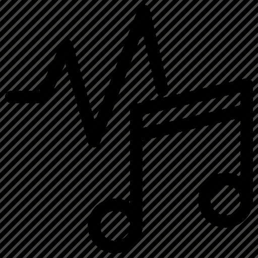 audio, music, waveform, waveforms icon