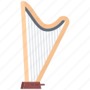harp, band, music, song, instrument