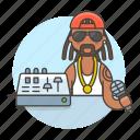adjustment, artist, eq, equalizer, female, hip, hop, microphone, music, musicians, rap icon