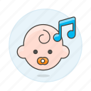 1, baby, double, genre, lullaby, music, note, pacifier, playlist icon