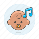 2, baby, double, genre, lullaby, music, note, pacifier, playlist icon