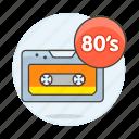 cassette, genre, music, s icon