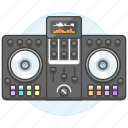 1, controller, dj, mixer, music, system, turntable icon