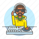3, controller, dj, headphones, male, mix, mixer, music, system, turntable icon