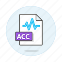 acc, audio, digital, file, format, music, sound, wave