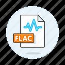 music, digital, format, flac, file, sound, audio, wave icon