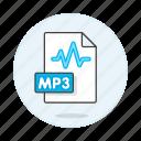 audio, digital, file, format, mp3, music, sound, wave