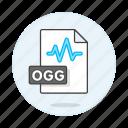 audio, digital, file, format, music, ogg, sound, wave icon